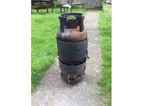 Cast iron garden patio bbq log Burner multifuel Burner