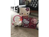 Hello kitty large plush,earmuffs and carry case