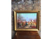 Maurice Buffet Original Oil On Canvas French Landscape Painting Le Vieux Verger. Excellent Condition