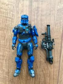 """*RARE* Halo EOD Spartan 6"""" Action Figure Comes with Rocket Launcher"""