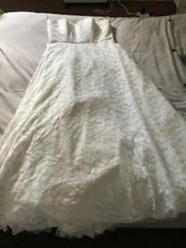 Ivory wedding dress size 18