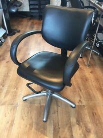 4 x Black salon styling chairs