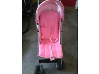 "Pink ""O baby"" pushchair/buggy/stroller"