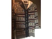 Beyou Ladies Hooded Winter Cardigan - Coatigan - Size 8/10 - NEW!