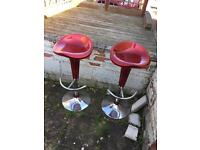 *Reduced price*Red bar/breakfast stools