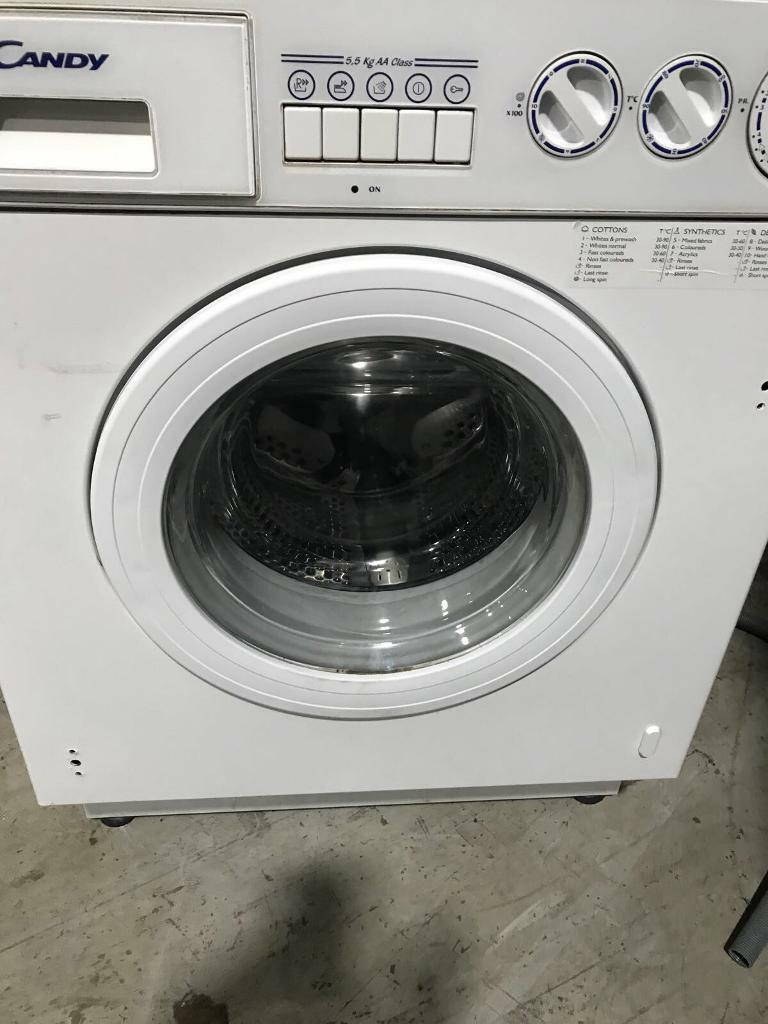 Integrated candy washing machine 1000 spin in good working order