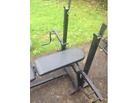 Marcy folding weights bench