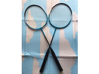 Two badminton rackets, immaculate, bargain at £10,I've got some others rackets too for adult & kids