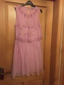 Asos lilac embellished tulle dress. Size 12