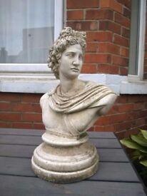 Vintage Apollo garden bust