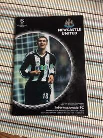 NUFC Signed football 2002 programme
