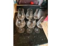 6x wine glasses