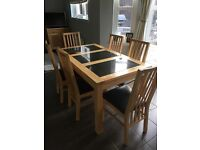 Matching Dining Table + 6 chairs, Sideboard & Coffee Table