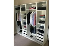 IKEA PAX white wardrobe incl. all drawers, clothes racks and shelves (245.5 cm wide x 236.4 high)