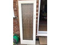 Glass panel mortise and tenon solid wooden door. Free.