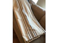 Double set of interlined curtains
