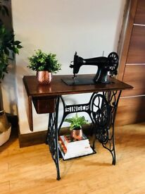 Authentic SINGER Sewing Machine - Decorative Side Table/Console Table