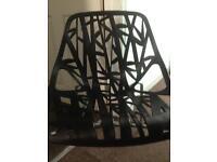 Black retro looking chair