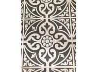 Devon stone grey floor tiles (1 box only)