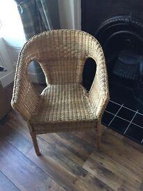 Classic wicker/ rattan bedroom chair