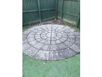 Garden stone patio circle