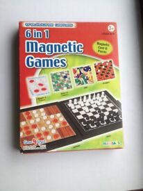 New 6 in 1 Magnetic Games