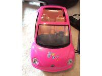 Barbie pink VW bug car