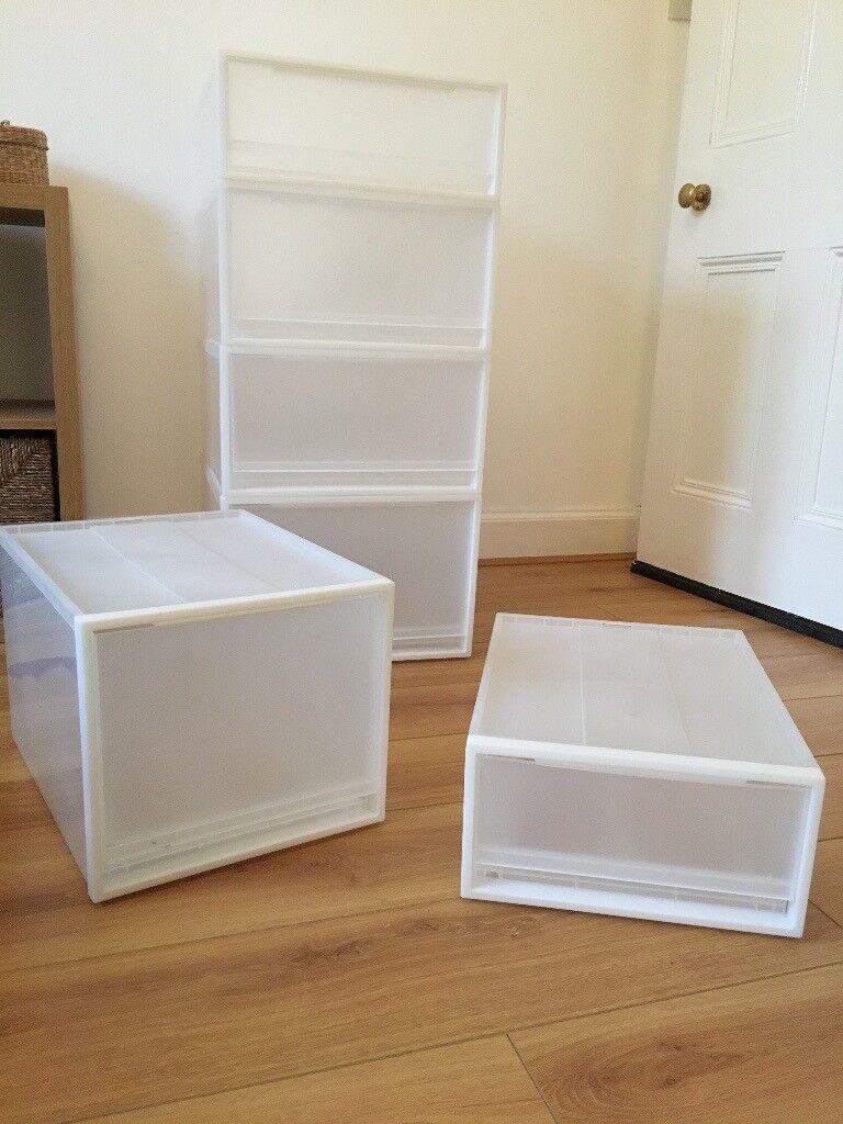 Muji Polypropylene Storage Boxes - various sizes