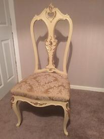 Shabby Chic reccoco style dining chairs x 4