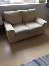Beige cordroy sofa