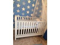 White Charlie Cot/Bed