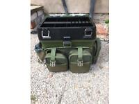 Fishing Seat Box & Harness Carry Straps Rucksack
