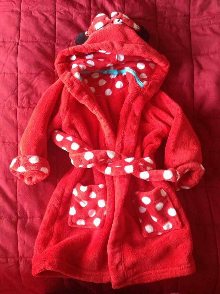 Red & white Minnie Mouse dressing gown from M&S 18-24 months | in ...