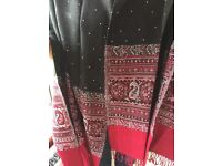 Black and red Shawl from Pakistan