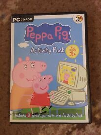 Peppa Pig Activity Pack PC CD-ROM for Ages 3+.