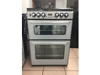 New world dual fuel gas cooker 60cm double oven FSD silver 3 months warranty !!!!!!