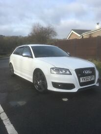 Audi s3 sportback black edition 265bhp, sat nav, heated seats, all mod cons , good condition