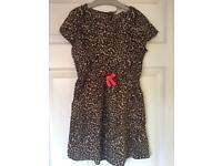 H&M Leopard Print Dress - Age 7-8