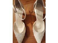 Unworn wedding shoes - size 7