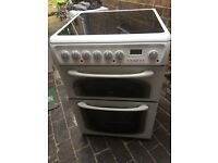 Hotpoint 60cm double oven electric ceramic cooker Free delivery