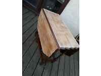 Antique Drop Leaf Table With Barley Twist Legs