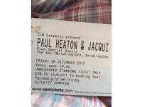Pault heaton tickets Bridlington Jacqui Abbot