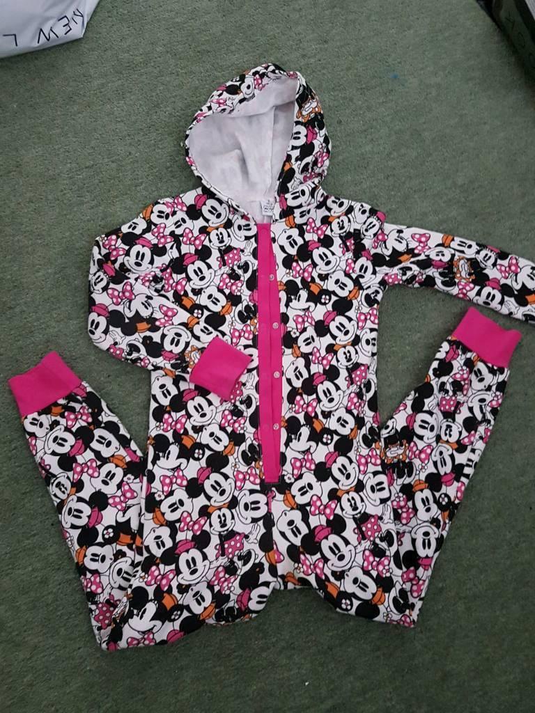 Minnie mouse girls onesie 7-8