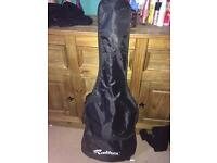 Black ST Style Rockburn electric guitar with Amp + accessories