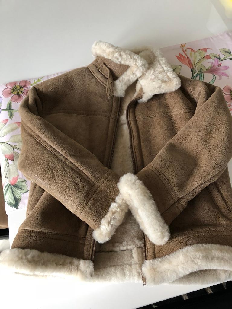 Beautiful Handmade Genuine Sheepskin Coat - boy or girl aged 5-6