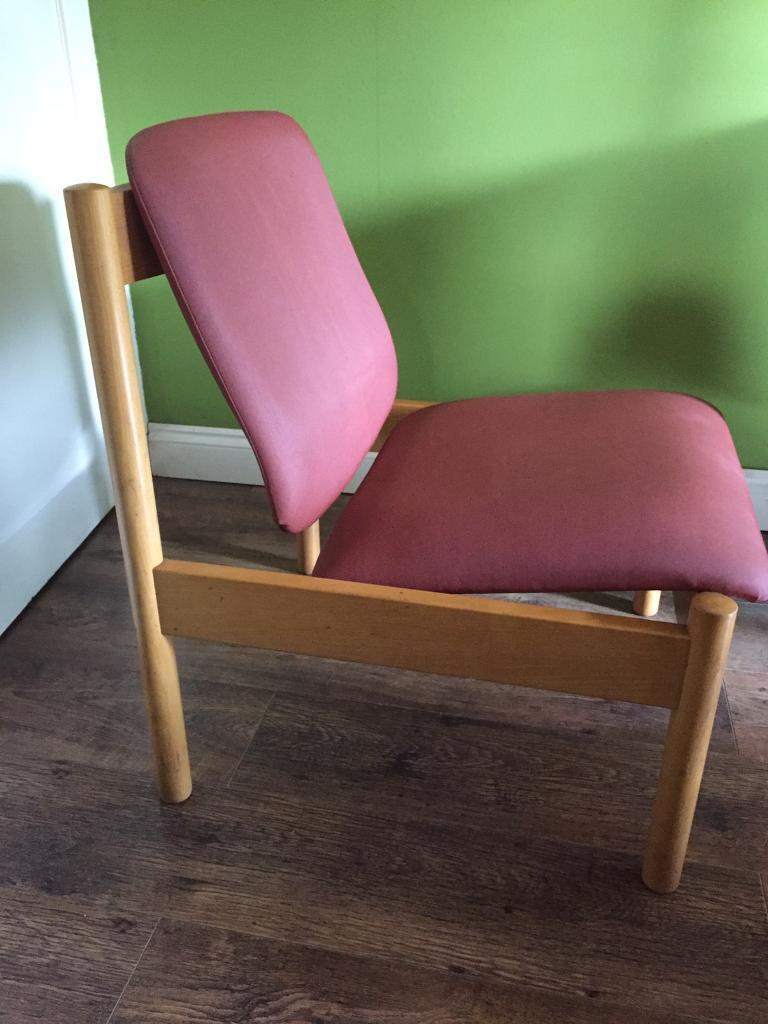 Retro 20th century Ercol solid elm low lounge easy chair