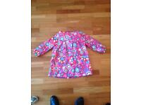 M&S Girls fleece lined rain coat - Size 6-7