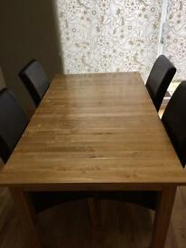 Solid wood extending kitchen table