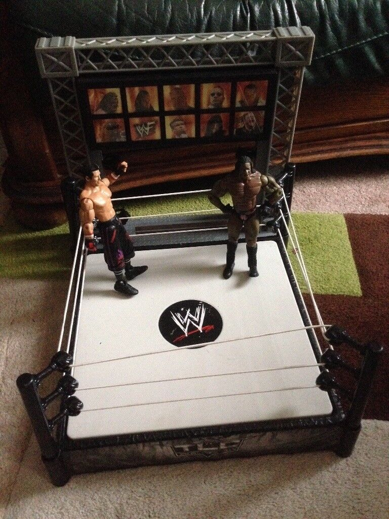 WWE Wrestling ring with wrestlers £20 | in Portadown, County Armagh |  Gumtree