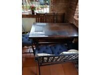 Beautiful polished hard wood dining table and chairs